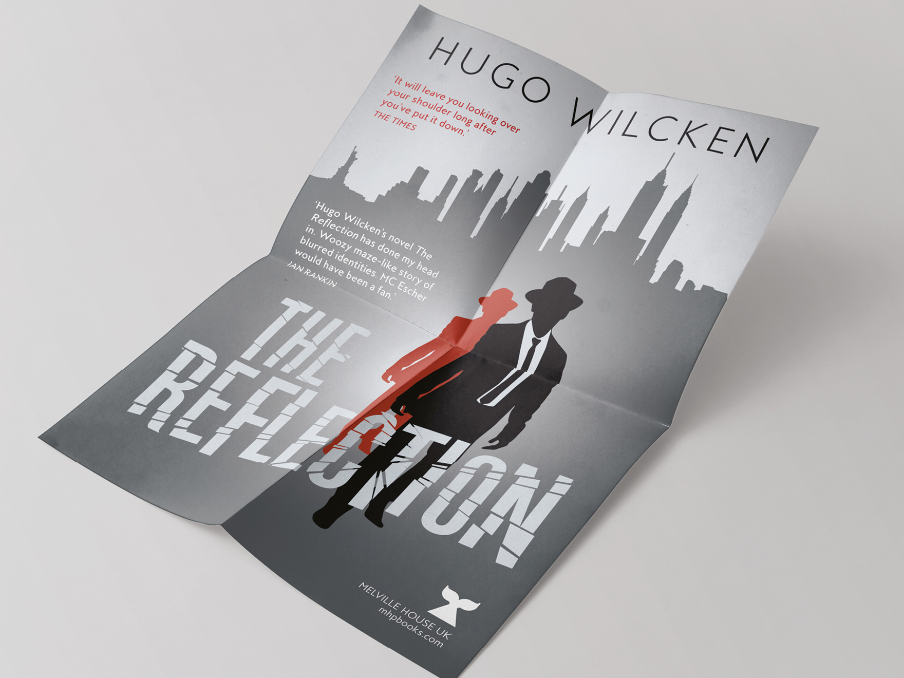 An A1 poster for the book The Reflection, using the cover artwork