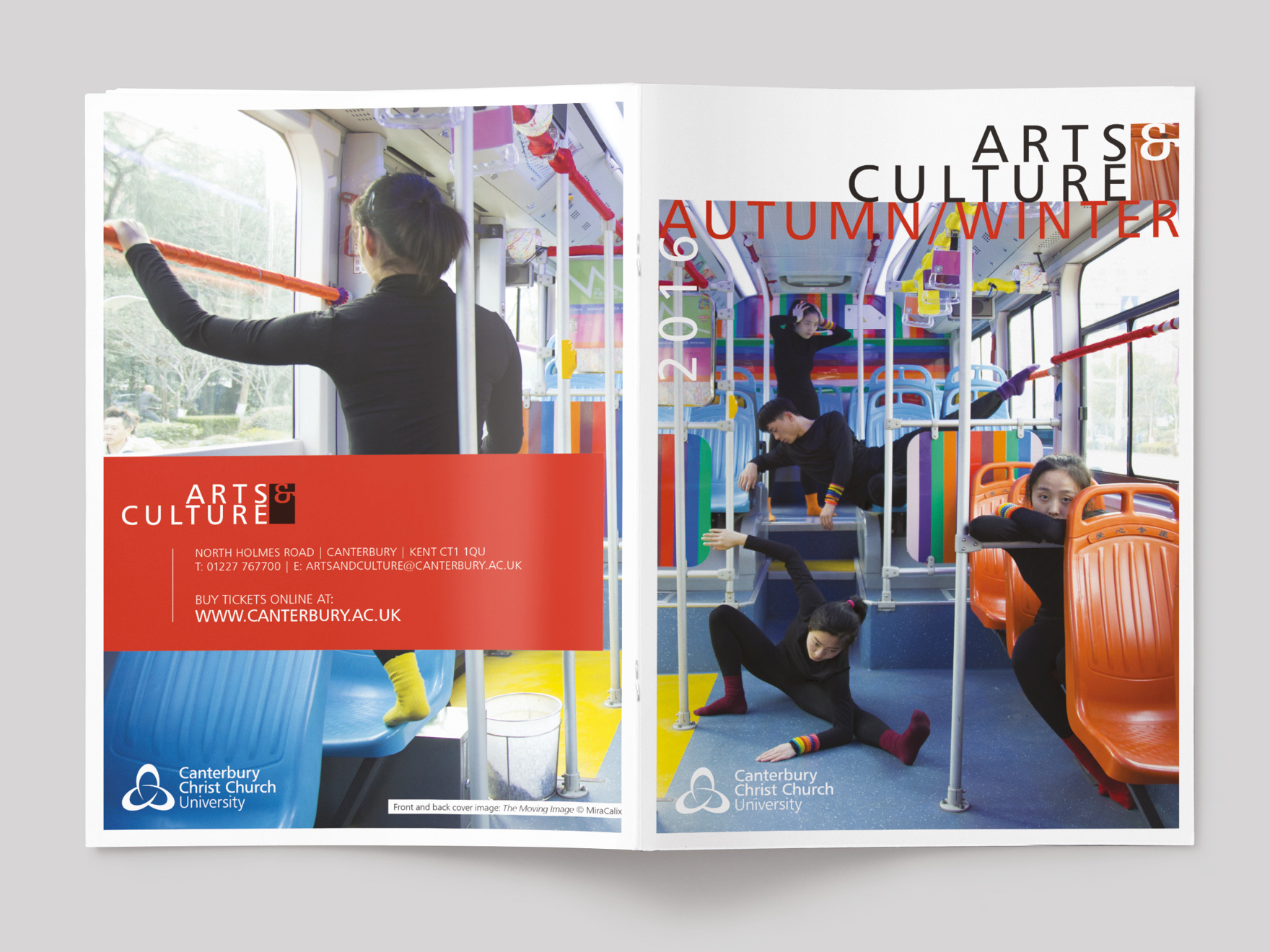 Front and back cover to the Autumn 2016 issue of Arts & Culture magazine